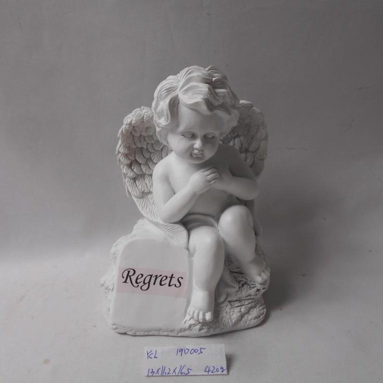 2019 Custom small resin angel figure polyresin statue for home decoration