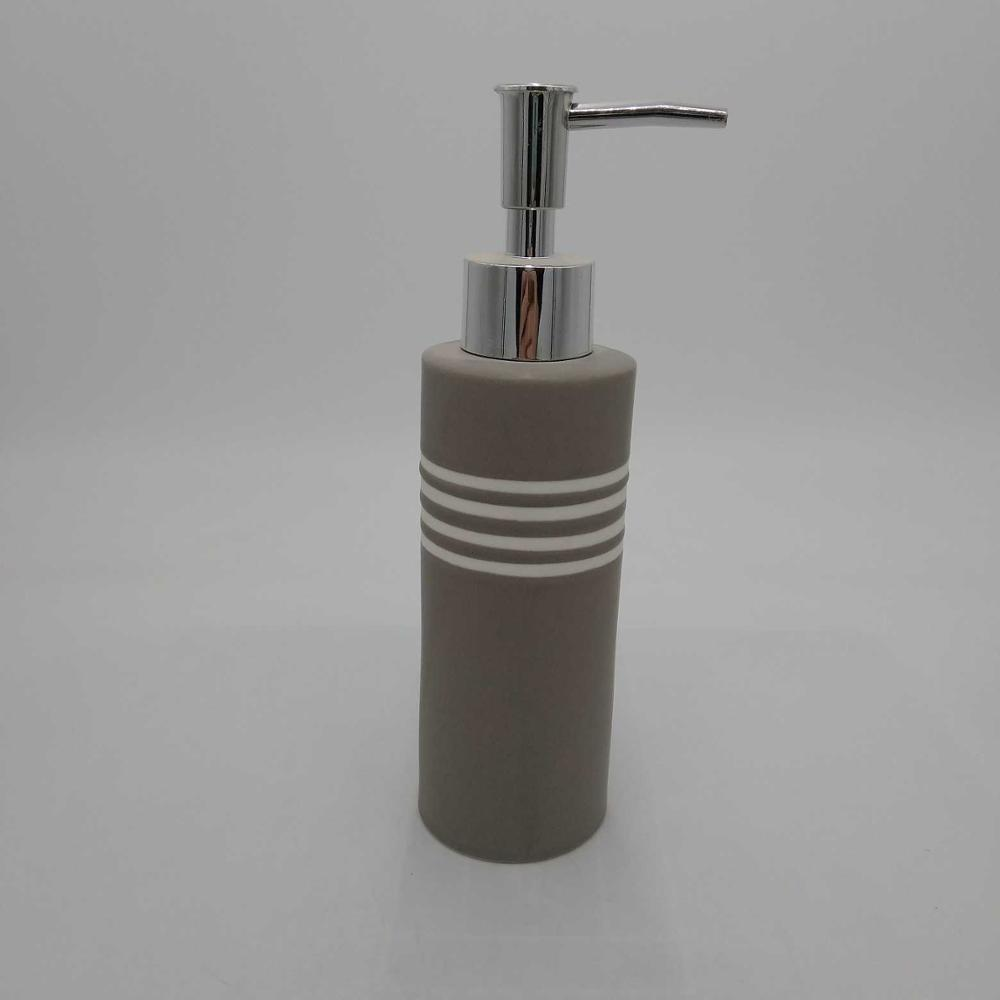 Mirror Damask Hand Soap Dispenser, Countertop Hand Lotion Pump, Modern Design- Resin Sink Shower Dispenser (Gray & White)