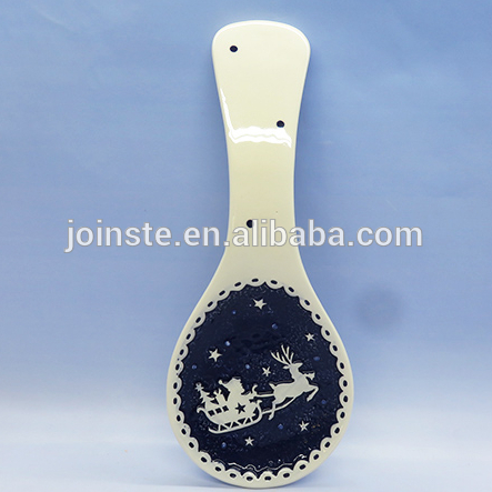 Custom blue deer painting spoon home decoration soup spoon