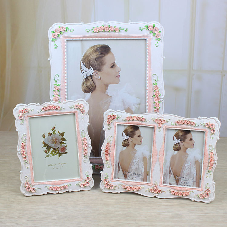 New classical wedding resin photo frame for sale doule design picture frame