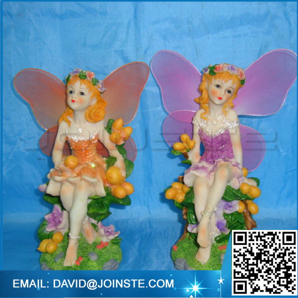 Assorted Resin Fairies Figurines, wings girl garden fairy