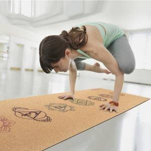 Anti slip Yoga Cork Mat yoga mat made from 100% natural materials