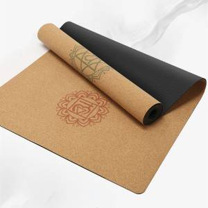Cork rubber mat -2 yoga mat made from 100% natural materials