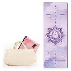 High quality suede rubber yoga mat 4