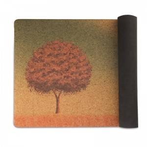 Customized Cork mat yoga mat made from 100% natural materials