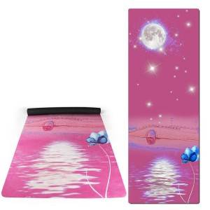 Eco Friendly suede rubber  yoga mat 4