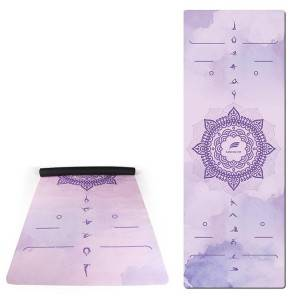 Gym suede rubber yoga mat 1