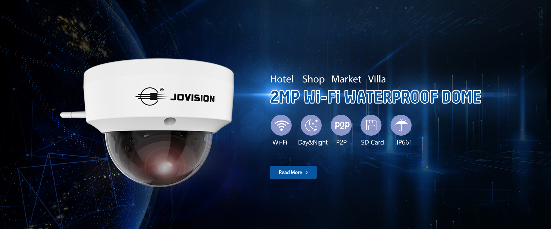 JVS-N3622-WF 2.0MP Vandal Proof Camera Wi-Fi Dome