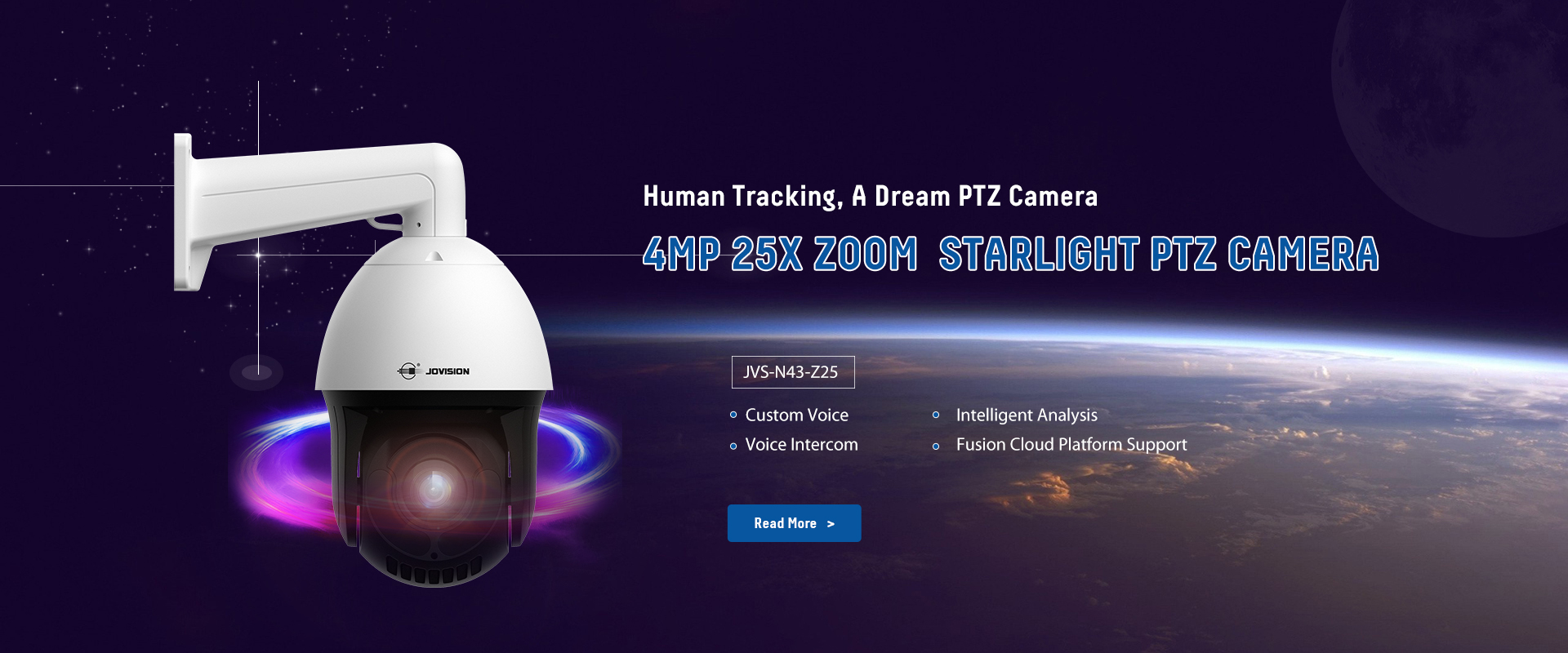JVS-N43-Z25 4.0MP Starlight PTZ IP Camera