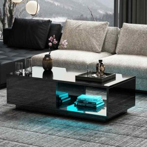 Coffee Tea Table Living Room Furniture Model White Stainless Steel Wooden Marble New Modern Set