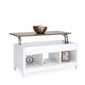 high gloss wood cheap center side tables lift top convertible coffee table to dining table
