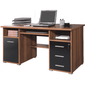 Computer Desk with Storage Shelves Table for Home Office