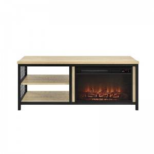 hot sale new design simple design 85 inch wicker modern wood classic tv stand with fireplace