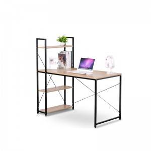 2021 the latest design China's modern structure simple steel and wood computer table