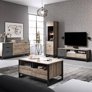Living Room High Gloss Furniture full Set Display Wall Unit TV Cabinet
