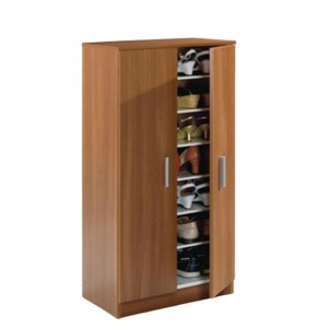 melamine MDF/MFC modern 2 door shoe cabinet home center