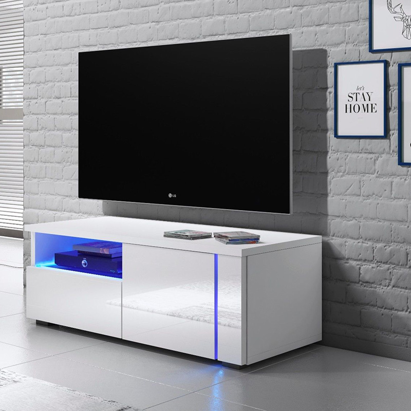 Hot sale Kitchen Cupboard Designs - Simple Design Livingroom White Gloss Tv Stand – Joysource