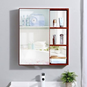 Wall Mounted Bathroom Cabinet Set With Big Mirror Provide Customized Service