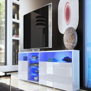 New model high gloss modern design wooden low price led tv cabinet