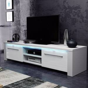 modern led tv stand furniture design with High gloss UV board door