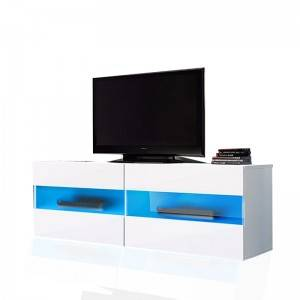 Closed Tv Stand Lcd Wooden Cabinet Designs Design With Led Light Living Room Furniture
