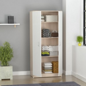 Morden design PVC gloss bedroom wooden wardrobe door designs