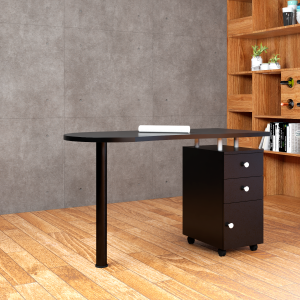 Simple design wooden computer desk for office