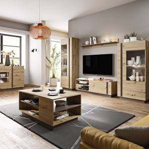 2021 popular fashional modern melamine particle board and mdf tv stand with fireplace