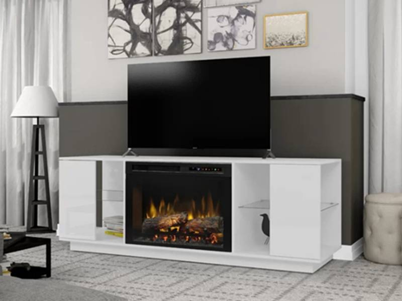 China Factory Source Tv Cabinet Design Hot Selling Wood Luxury Retro Wall Living Room Furniture Stand With Fireplace Joysource Manufacturer And Supplier
