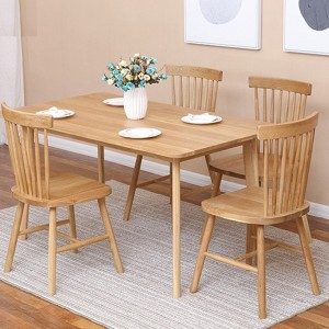 Dining Room Furniture Gloss Extension Mdf Dinning Table Set