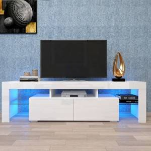 high gloss modern wooden furniture cabinet industrial tv stand for living room