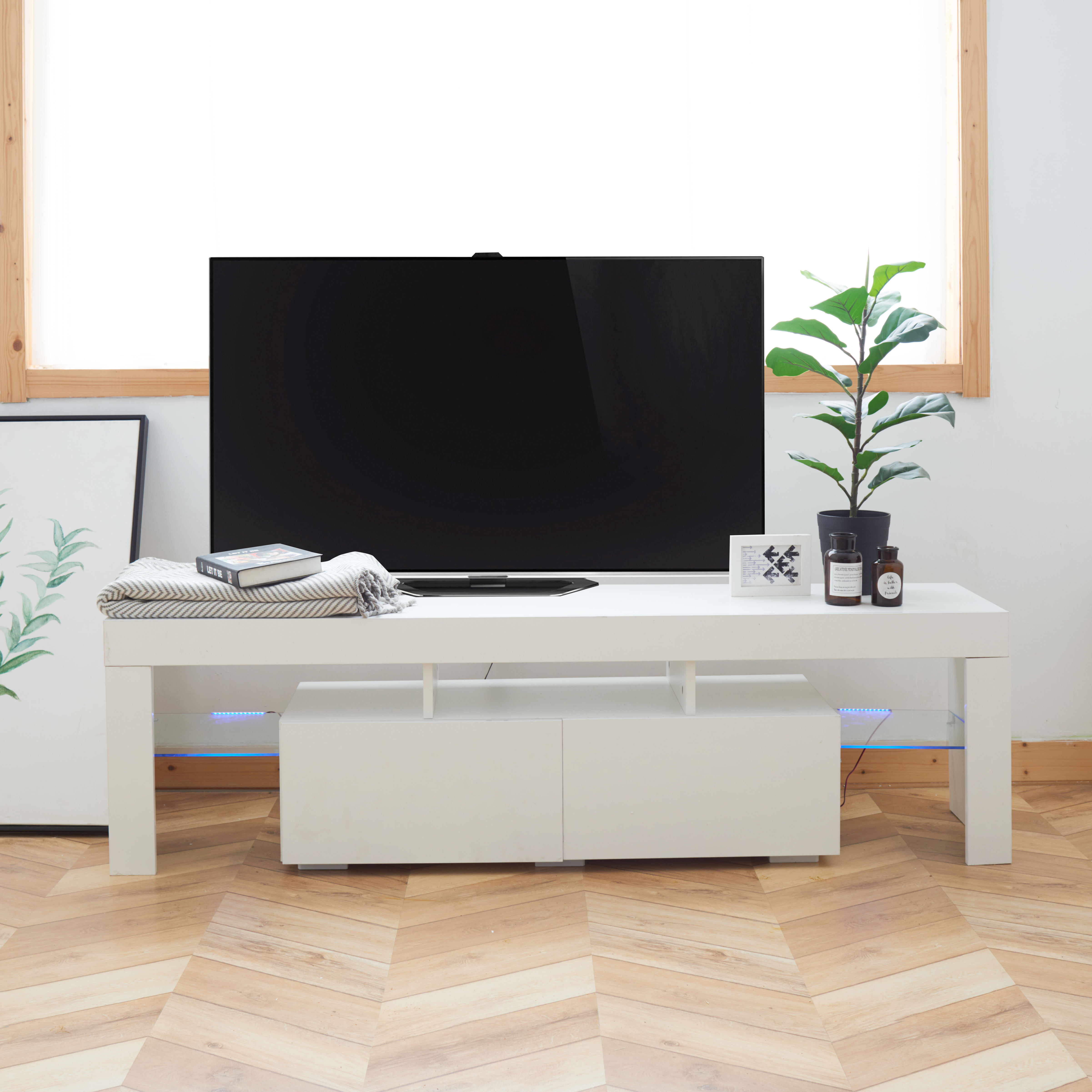 New style living room bedroom modern simple furniture mdf wooden tv cabinet Featured Image