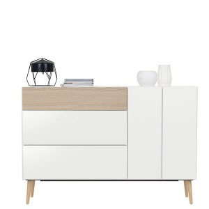 2 doors wood sideboard for living room cabinet