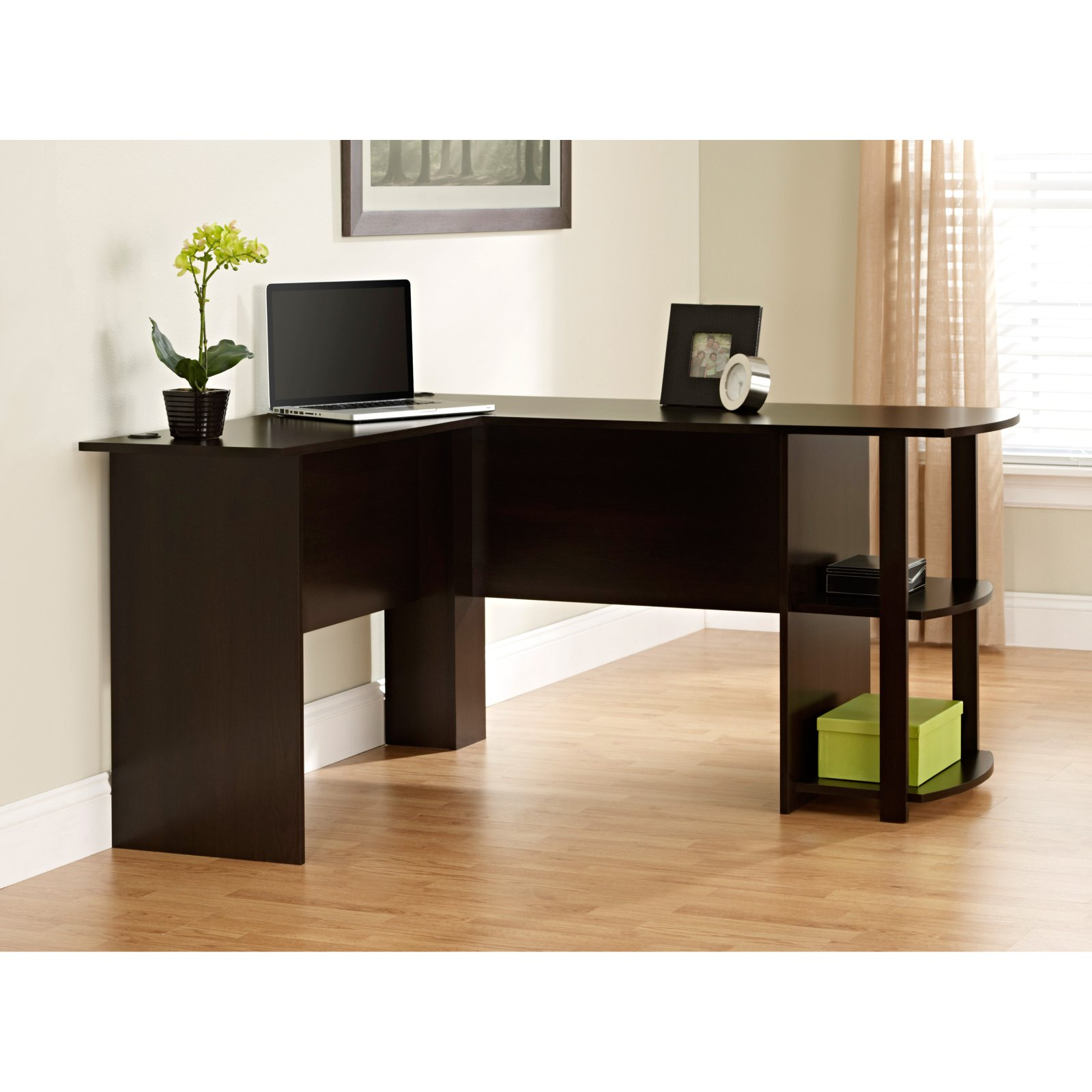 Manufactur standard Commercial Bathroom Vanities - Office Desk One Seater Table Wooden Computer DeskTable  – Joysource