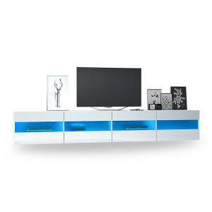 Led Television Showcase White Modern Gloss Tv Stand