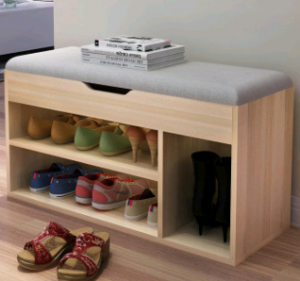 Modern simple wooden shoe cabinet design