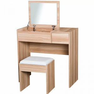 Wooden Makeup Table Dressing Table With Chair