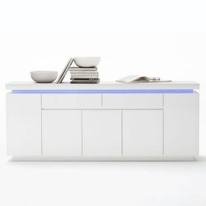 Special Design for 2mm Body Thickness Kitchen Cabinet - Modern Cabinet LED Sideboard Hallway Storage Cupboard Wooden Furniture – Joysource