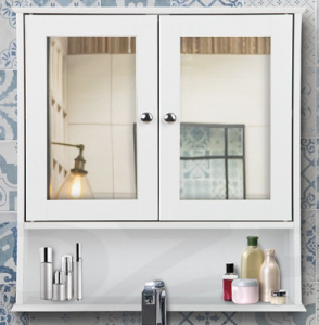 Wall Mounted Mirrored Cabinets Durable Bathroom Vanity
