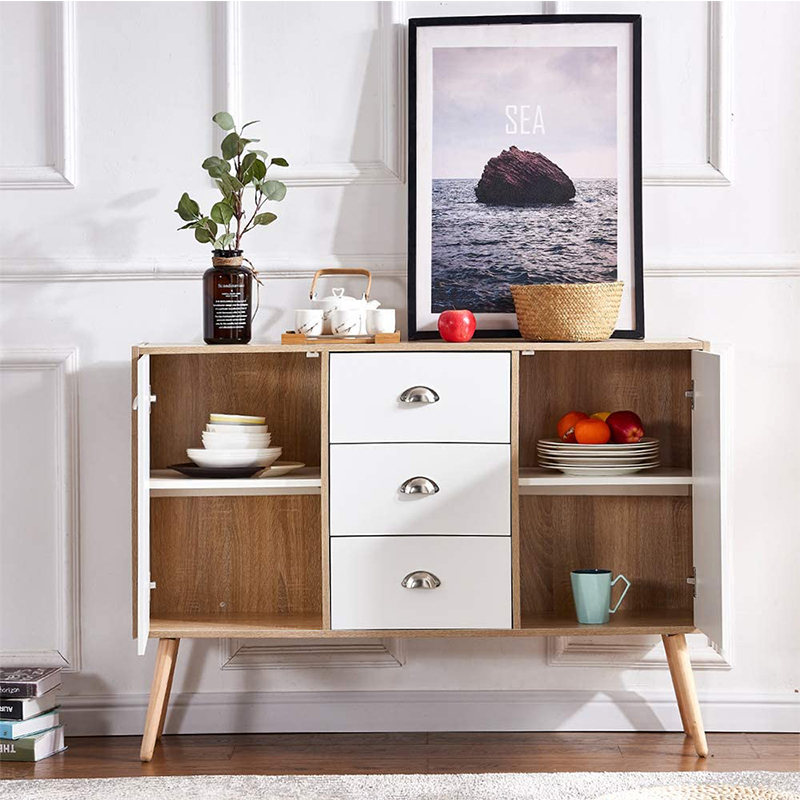 hot sale high gloss cabinet new massiv white wood modern buffet furniture sideboard Featured Image
