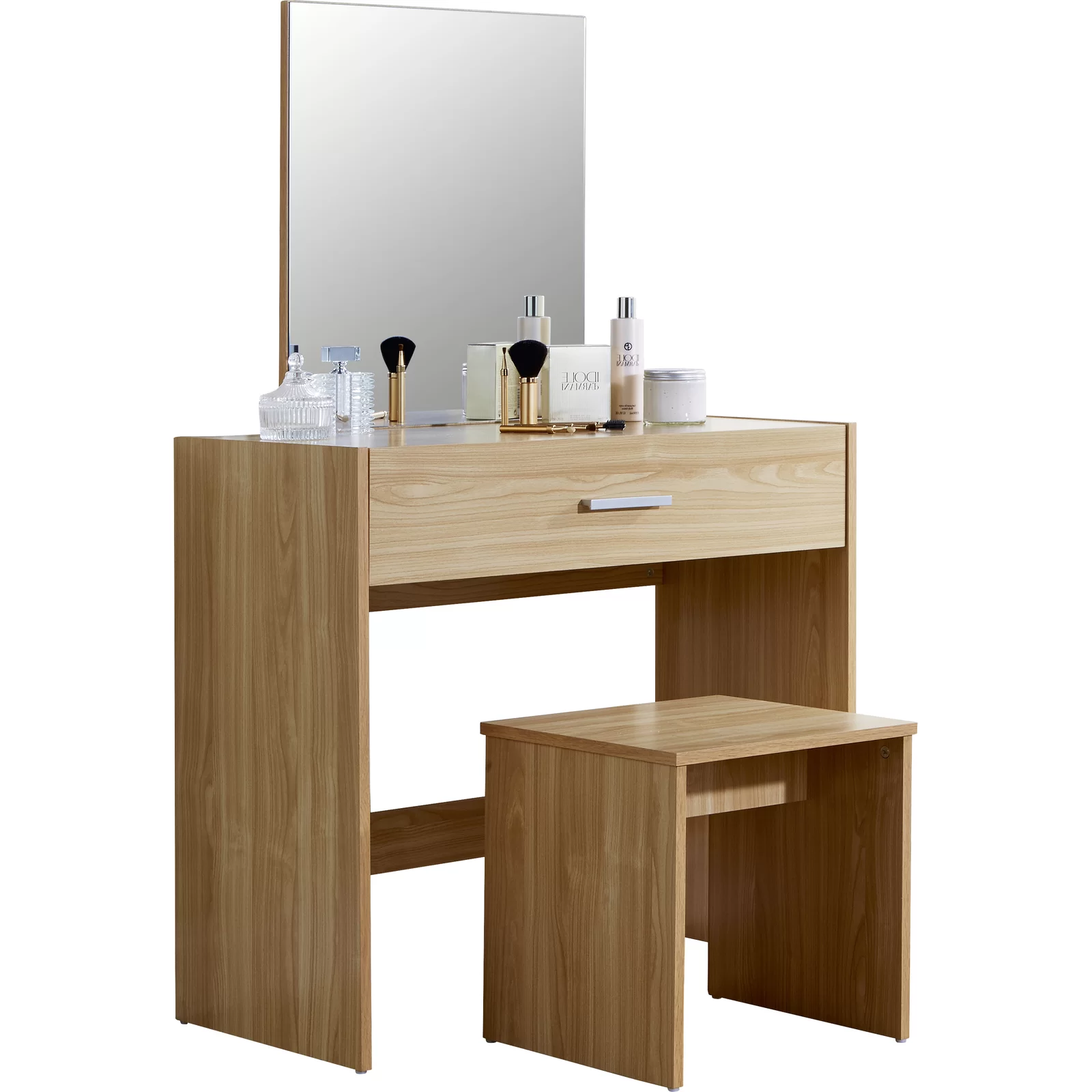 Renewable Design for White Shake Wood Kitchen Cabinets - Dressing Table With Mirror Makeup Table Dresser Table – Joysource