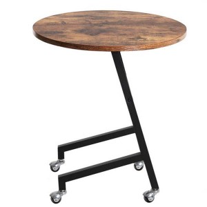 Modern Simple Side Table With Wheels