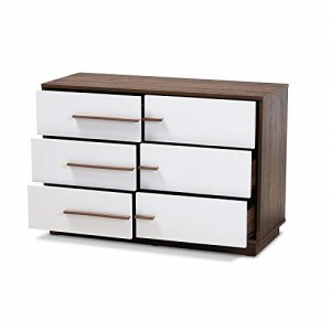 Reasonable price for Upright Kitchen Cabinet - Baxton Studio Mette White Walnut Finished 6-Drawer Wood Dresser – Joysource