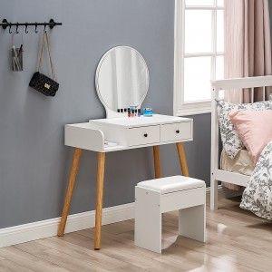 2021 vanity contemporary compact cheap makeup dressing table wooden with mirror
