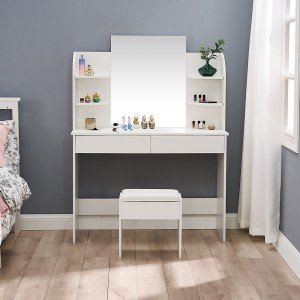 new design makeup luxury modern dressing table with mirror and stool