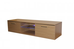 Modern simple wooden tv stand with storage cabinet