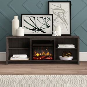 TV Stand for TVs up to 65 inches with Fireplace Included