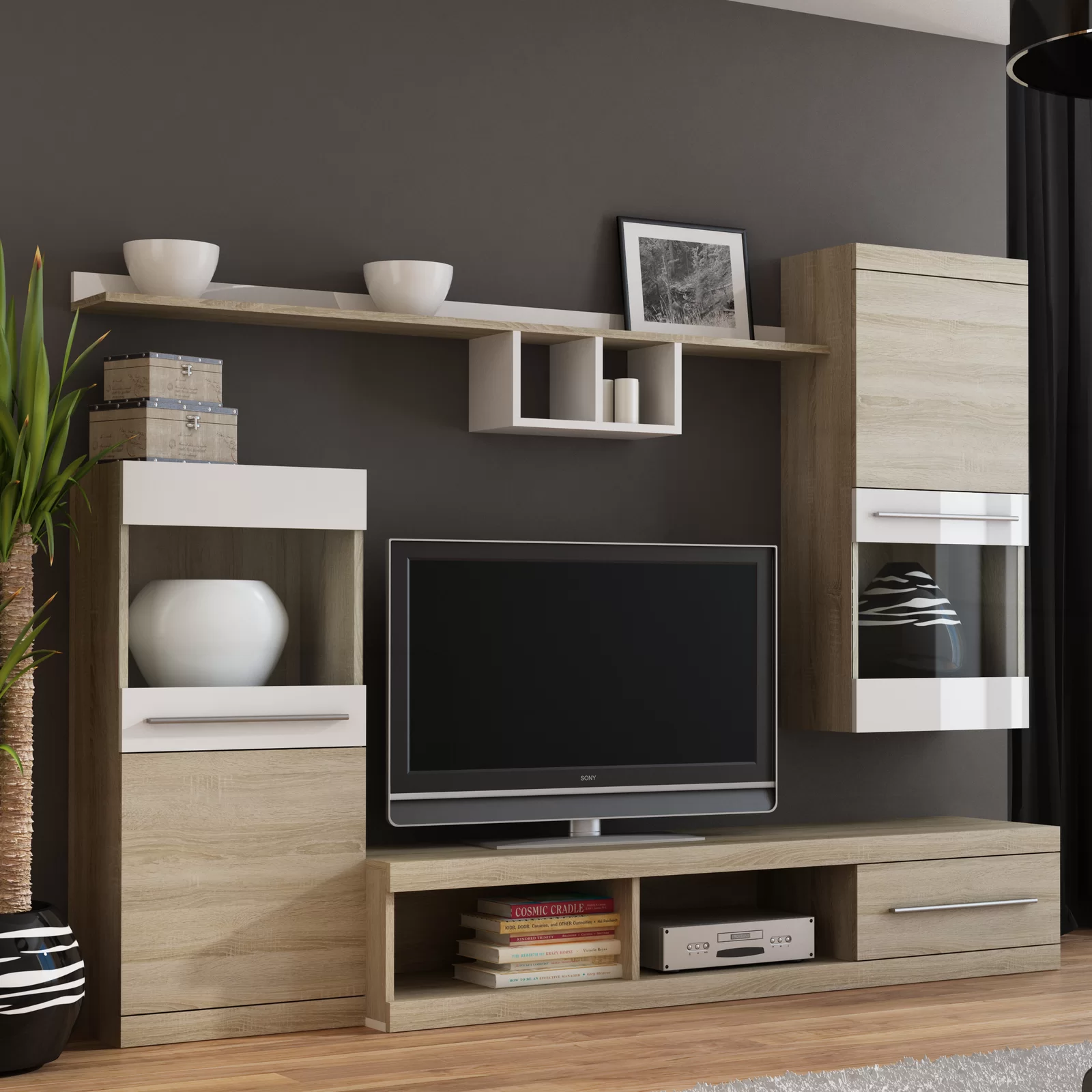 Simple Mdf Tv Stand Design Wood Entertainment Centers Tv Cabinet Living Room Furniture Wooden Featured Image