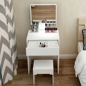 Bedroom Wood Furniture Vanity Dressing Table Makeup Dresser With Mirror