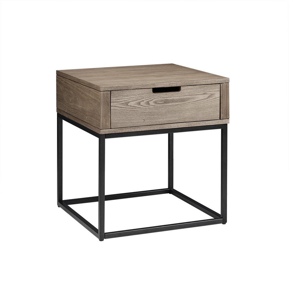 Factory Cheap Modern Kitchen Cabinets -  End Table, Brown/Slate  – Joysource